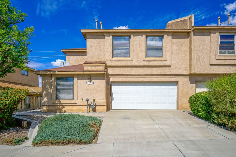 Welcome to this lovely townhome that is ready to move into! This quiet & convenient location is only minutes from shopping, restaurants & is in the La Cueva school district. As the nights get cooler, you can look forward to snuggling up to the gaslog fireplace in the living room. The kitchen & dining room open out onto the private back courtyard with a covered patio. Laundry room & 1/2 bath are downstairs. All 3 bedrooms are upstairs & have ceiling fans, master suite has a walk in closet & full bath.