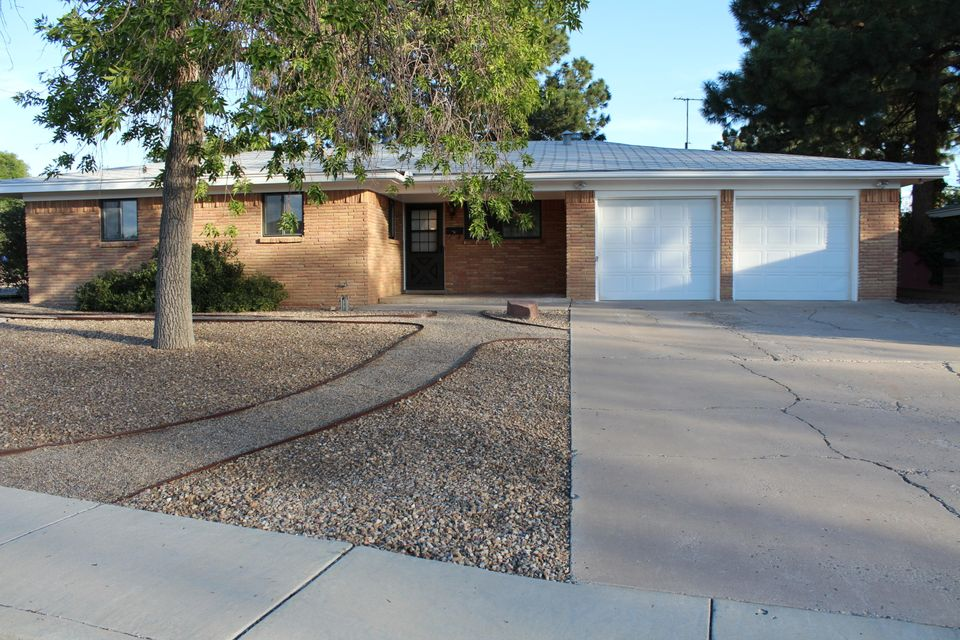 This is a great ranch home in the fantastic Sandia High School neighborhood, on a spacious corner lot. Home has ceramic tile in the kitchen, living room and hall way. Wood floor in the master bedroom. Pitched roof, spacious kitchen with lots of counter space. Refrigerator, washer, dryer and all other appliances will stay for your use. Come to check it out and live in the center of town where everything is convenient.