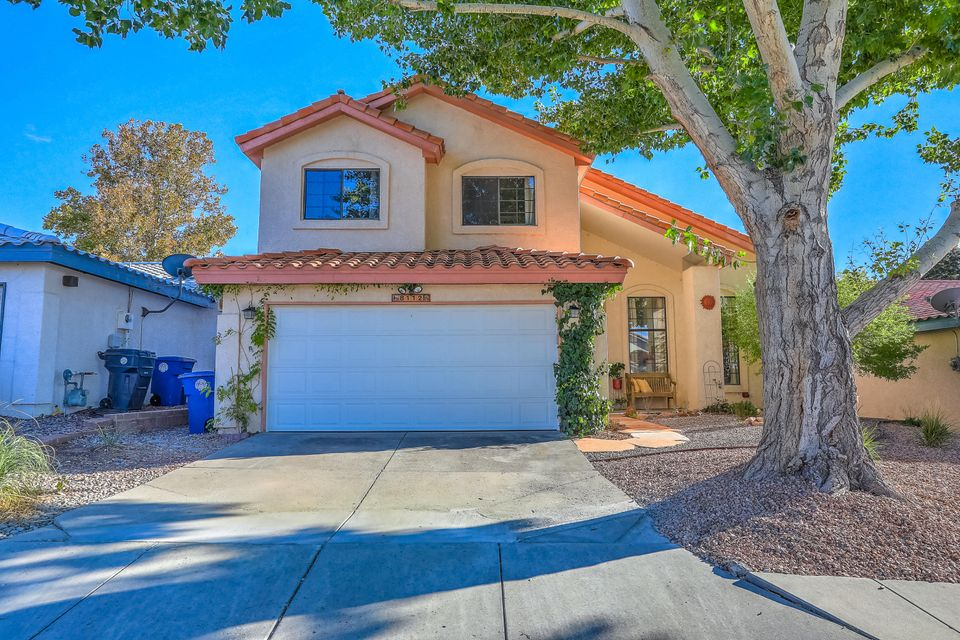 This lovely 3BR home nestled in family-friendly Nor Este Estates  features a bright, open floor plan w/multiple living areas. W/in easy walking distance to La Cueva H.S., enjoy the light, spacious feeling of a soaring ceiling over the living/dining areas, a family room w/a cozy gas log fireplace, loft w/laminate flooring, cheerful kitchen w/granite countertops & stainless steel appliances, ceramic tile floors in kitchen & spacious heated sunroom, recently replaced water heater & garage door, remodeled master bath, custom cedar-lined master closets, security alarm, freshly updated front & backyard landscaping w/gorgeous shade trees & shed.  NOTE:  NEUTRAL PAINT NOW REDONE in BR 2&3! Sq. footage & room sizes are approx.  If sizes are of material concern, buyer should independently verify.