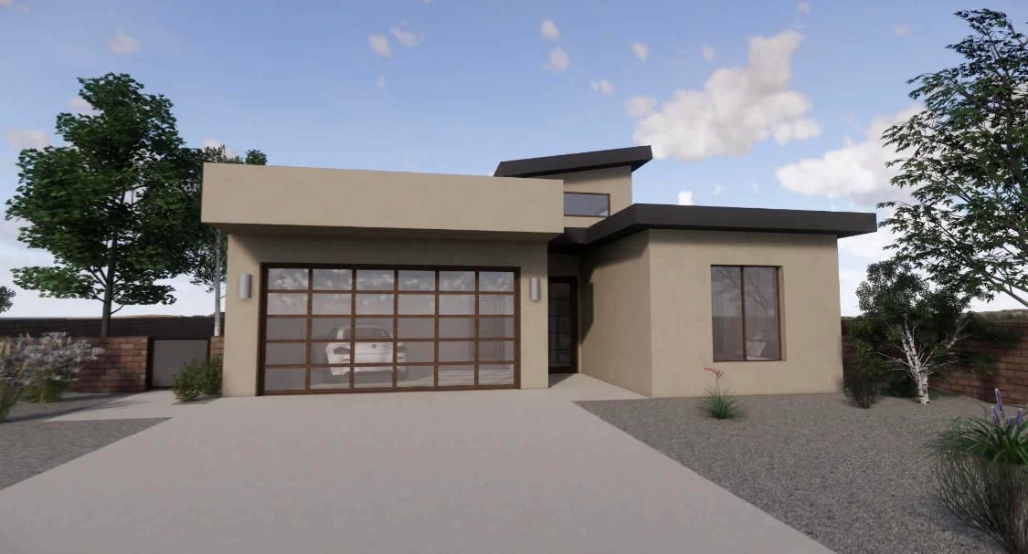 Entire home is covered with sleek tile floors. Beautiful plank-style tile accents the exterior front and back of this home with a commercial storefront entry door, giving it a WOW factor that words do not describe. Home also accommodates smart car capabilities.