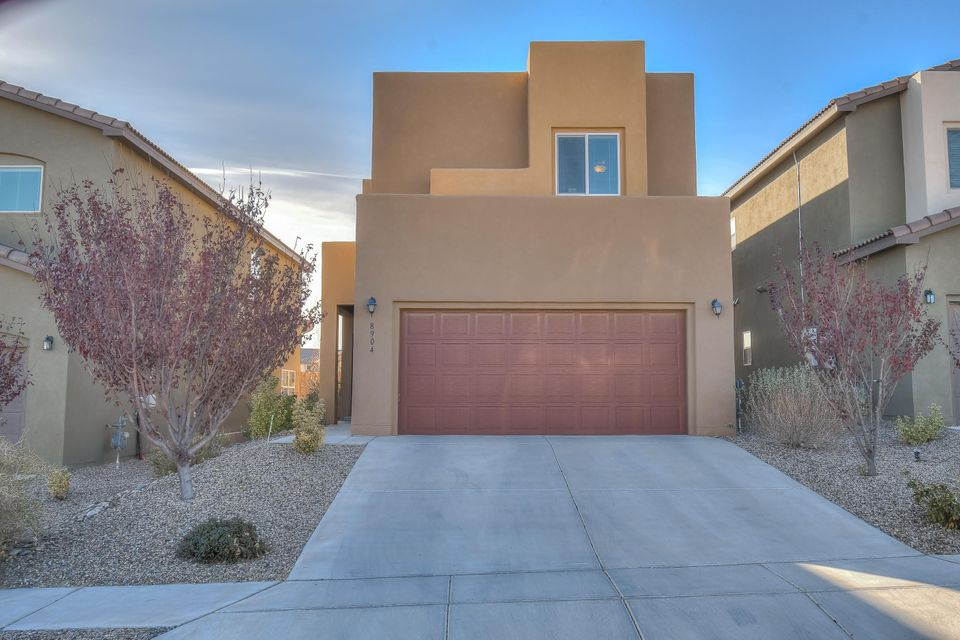 Beautiful, nearly new home located in the desirable NW heights Stormcloud Subdivision. Enjoy all that this home has to offer: open kitchen, dining and living room with plenty of natural light; spacious master bedroom with two walk-in closets and master bathroom with double sinks and shower. Beautifully landscaped backyard with a pergola and fantastic city view. APS's brand new (8/2018) Tres Volcanes Schools (K-8)! Conveniently located with shopping, restaurants and I-40 just minutes away. There is also a dog park and another park just down the street