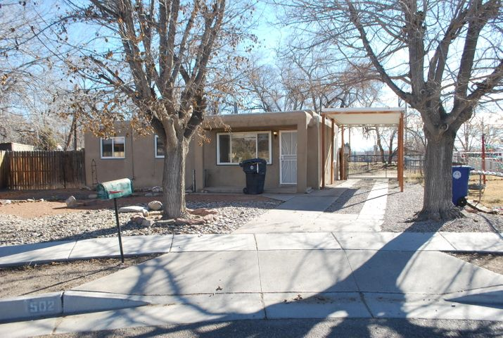 Cute home, big lot, cul-de-sac. Yea! Within the last 5-7 years: Partial roof, evaporative cooler, stucco, furnace and windows . Eat in kitchen. Washer/dryer in kitchen.