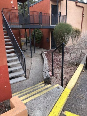 GREAT INVESTMENT OPPORTUNITY!!! This condo is centrally located in the UNM South area; close to the interstates, and is within minutes to the University of New Mexico, Albuquerque International Sunport , Kirtland Air Force Base, shopping and much, much more. This property will have a low monthly payment with possible positive income. HOA covers all utilities, common area maintenance, and community pool. This is a great property for a first time home buyer, student, or investor.