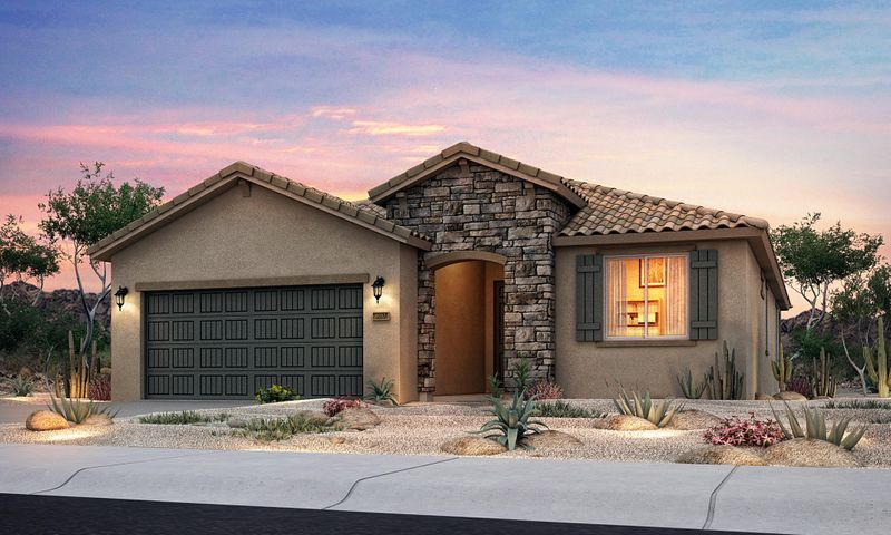 This brand new, never lived in Pulte Home is one of our last ''Gateways'' into Yucatan del Este at Cabezon. Enjoy granite countertops, a spa-like tile framed shower, a spacious 2.5 car garage, a new tankless water heater, and so much more.