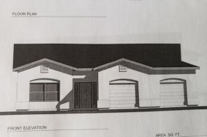 Home is currently under construction.See Floor Plan attached.  Custom 3 Bedroom/2 Bath Home with views of Sandias sitting on 1/2 acre with back yard access!  Featuring open floor plan, spacious kitchen opens to dining and great room. Kitchen has island and pantry, ceramic tile and stainless steel appliances. Great room has raised ceiling.  Master suite has separate tub and shower and walk-in closet.  Over-sized 2-car garage (643 S.F.) 2x6 construction, covered patio.