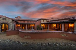 Luxurious Tuscan style architectural masterpiece, built to the highest level of perfection, located in the upscale gated Nature Pointe community on a 2-acre property! This 3,737sf home offers a rich palette of the finest finishes! Stunning kitchen fit for a chef featuring designer cabinetry, high level granite countertops, built-in double oven/microwave, commercial grade cooktop, built-in refrigerator, brick backsplash with natural stone accents, center prep island & a high top bar w/ seating area. Gorgeous living area w/ an amazing wood beamed ceiling, fireplace & built-ins.  Master retreat w/ wood beamed ceiling, custom fireplace & outside access.  Grand bath w/ his/hers vanity, soaking tub and huge walk-in shower.  Stay warm around the outside fireplace under the large covered patio!