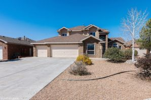 Beautiful four bedroom home in a gated community in Rio Rancho. Cozy living area with a fire place. New stainless steel appliances and kitchen cabinets with upgrade backsplash and granite countertops. New kitchen tile and carpet. Large master bedroom and bathroom with separate shower, and walk in closet. beautiful floor plan with tons of space.