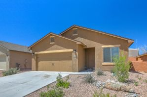 Check out this 3 bed, 2 bath home still only 2 years young! Open concept floor plan with large living room. Granite counters, full appliance package with built in microwave.  Recessed lighting. Split floorplan. Great location, just minutes from shopping, schools, and easy access to Unser Blvd and Paseo del Norte!