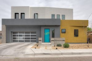 Incredible LEED Certified Platinum Green Built contemporary townhouse located in one of the most walkable districts in ABQ. This Parade of Homes award winner was designed and built by esteemed local builder/ architect Wristen Paschich for his own family. Dynamic architecture, lots of natural light & a highly functional open floorplan define this great home. Custom features include a suspended steel staircase, exposed steel beams, polished concrete floors, high end custom cabinetry, Bosch appliances, & artistically designed tile layouts. Walk to Explora, Old Town, Tiguex Park, the Albuquerque Museum, & the Sawmill District from this pedestrian friendly location with direct access at the end of the cul de sac. Enjoy the urban lifestyle rarely afforded in Albuquerque from this great home!