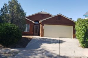 This one story home with desirable floorplan has a large lot with backyard access possible. Enjoy the fabulous sunsets from the back covered patio. This home is priced to sell fast. Stucco has been freshly painted.