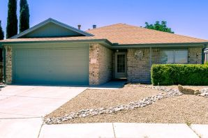 Go west and make a splash! Adorable one-level Opel Jenkins brick home with a pool on a cul-de-sac lot in Taylor Ranch! Impeccable condition! ROOF NEW IN 2019! Also new in 2019 - cedar fencing and ''cool deck'' around pool. Freshly painted interior. Living room with gaslog fireplace, formal dining room, and large eat-in kitchen with bay window. Three bedrooms; 1.75 baths. Raised, sloped and tray ceilings. Covered patio. Gunite plaster and mosaic tile solar pool with child-proof cover. Xeriscape rock refreshed this year. Shaded turf. Storage. Auto sprinklers. Evap cooler 2016. Seamless gutters. Jogging and bike trail + Mariposa Basin Park just around the corner!