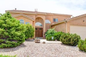 Walk thru the steel front doors to the foyer with soaring ceilings to this one of a kind Custom Multi-Generational Home!  The main home boasts new carpet in 06/2019, 5 spacious bedrms and 3 bathrms, 2  living areas, a formal dining rm, a large kitchen & nook that opens to the family rm & an over sized 3 car garage. Kitchen has a grand island for your preparations, stainless steel appliances, granite composite counter tops and a pantry. Master Suite has  a deck with awesome mountain views! A dream for entertaining with a covered patio, grill, and water feature. It has back yard access with plenty of room for an RV. The Best Feature: A GUEST SUITE on main floor, with many uses: in-laws, a nanny, private studio, or home office with a full kitchen, master bedrm, bathrm and living rm. A must s