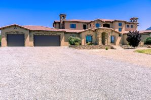 Welcome to this custom Tuscan home, offering breathtaking mountain and city views from every angle. Just under an acre this home is in desirable school districts of North Star, Desert Ridge and La Cueva. Open windows, cathedral ceilings and overlook from second floor makes this 3860 sq ft home seem much larger. Beautiful kitchen with granite, custom cabinets and wine bar is perfect for entertaining. In the master bedroom cozy up to the fireplace or step out to the back patio. Master bathroom focal point is an alluring jet tub and has separate his and her vanities. Second floor features a spacious loft with wet bar and a substantial walk out deck. Find third and fourth bedroom also on the second floor with adjoining Jack n Jill bathroom, both with walk in closets.