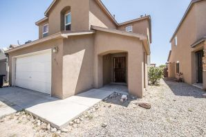 Ready For New Owners! Home Has Tons of potential! 4 bedrooms all upstairs! Nice Open Kitchen that opens to the Living Room! Large Master Bedroom Plus Large Balcony that faces East with Fantastic Views of the Sandia Mountains! Large Backyard with Tons of potential to make your own! Spacious Home! Must See!