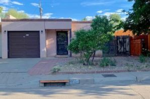 Estate property in a short cul de sac street. Three bedrooms, 2 full baths with one bath including a jetted walk in tub. Home is being sold AS IS and is needing new flooring and paint. Has fenced back and side yard with side patio facing west.  One car garage