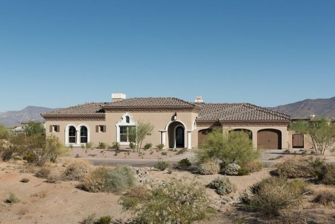 Gorgeous exterior features enhanced four sided architectural detailing including extensive use of Cantera stone. This impressive home is set on a large lot that back and fronts to natural open space with expansive mountain views.