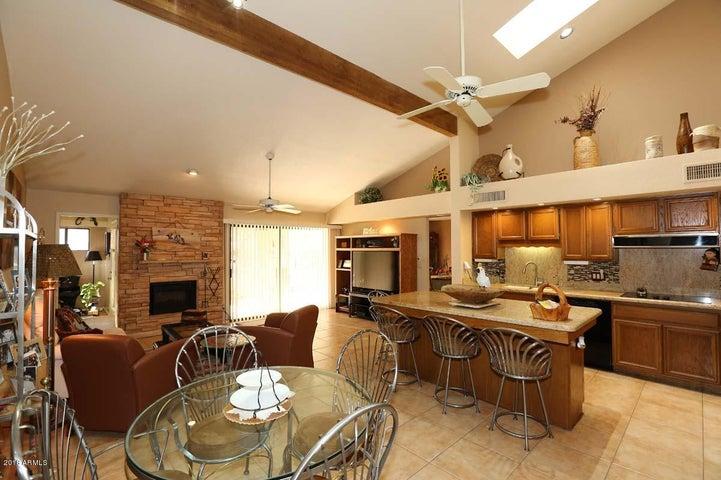 Kitchen and Breakfast Room overlooking Family Room