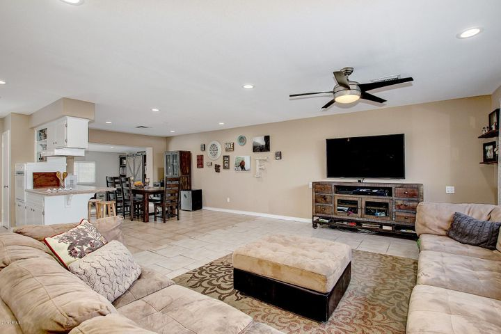 Spacious living room and open concept