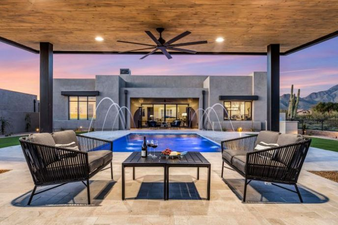 Enjoy Arizona living at it's finest with outdoor ramada overlooking the resort style pool.
