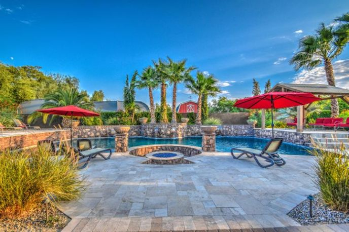 Your very own Resort backyard and pool