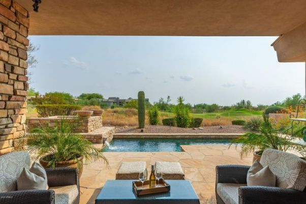 Breathtaking backyard views of the 13th fairway on the Ancala Country Club golf course