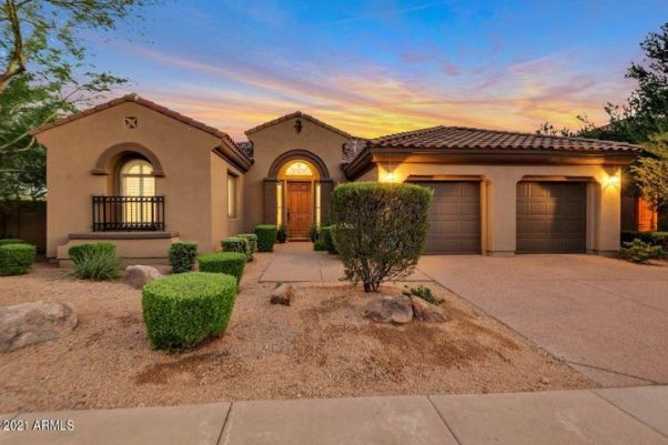 Twilight Front Elevation Curb Appeal