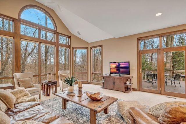 1638 Wingate Dr - Great Room with wall of windows.