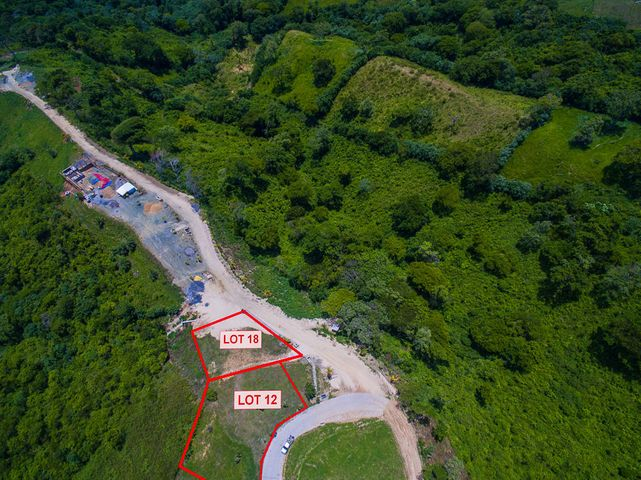 Aerial view of Coral View lot 18- please not this listing is only for lot 18