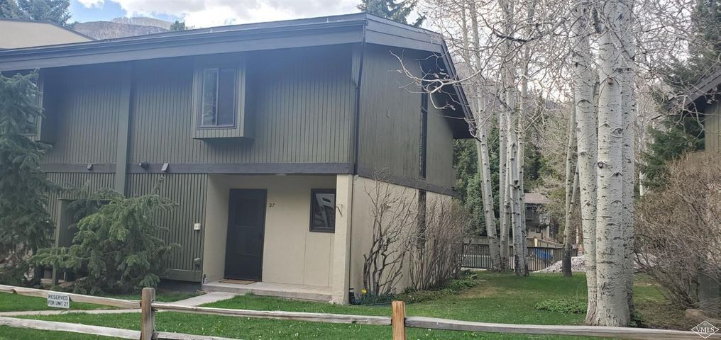 Live in Vail in this light and spacious end unit townhome with the full remodel completed March 2020. Two large bedrooms, family room, loft, new bathrooms, laundry room, new water heater and plumbing.The unfinished heated basement provides enormous storage. 2 year old roof, asbestos and mold mitigation completed. Easy access to free Vail bus in West Vail. Click on attachment in the listing for information on remodel.