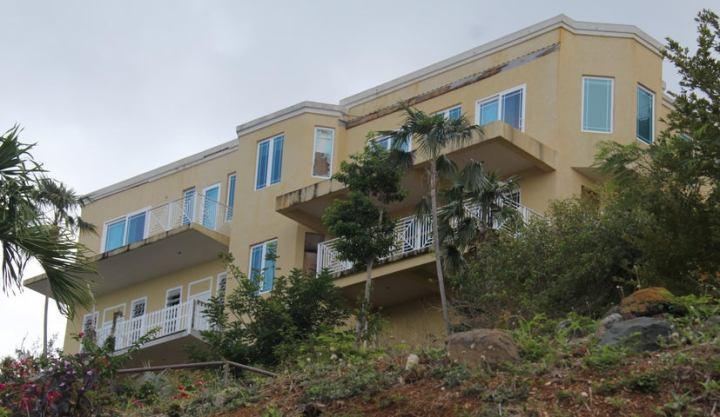 House facing the ocean