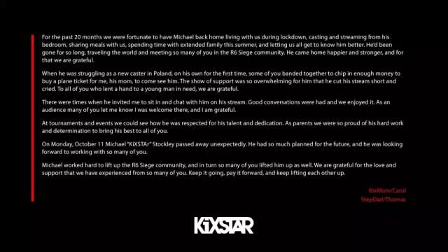 kiXstar died