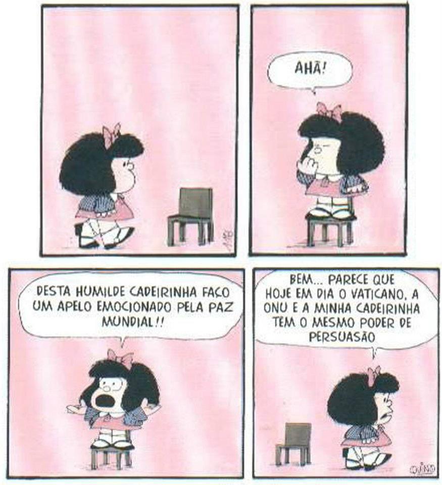 mafalda 6 - Confira tirinhas históricas da Mafalda que explicam porque Quino foi um artista gigante
