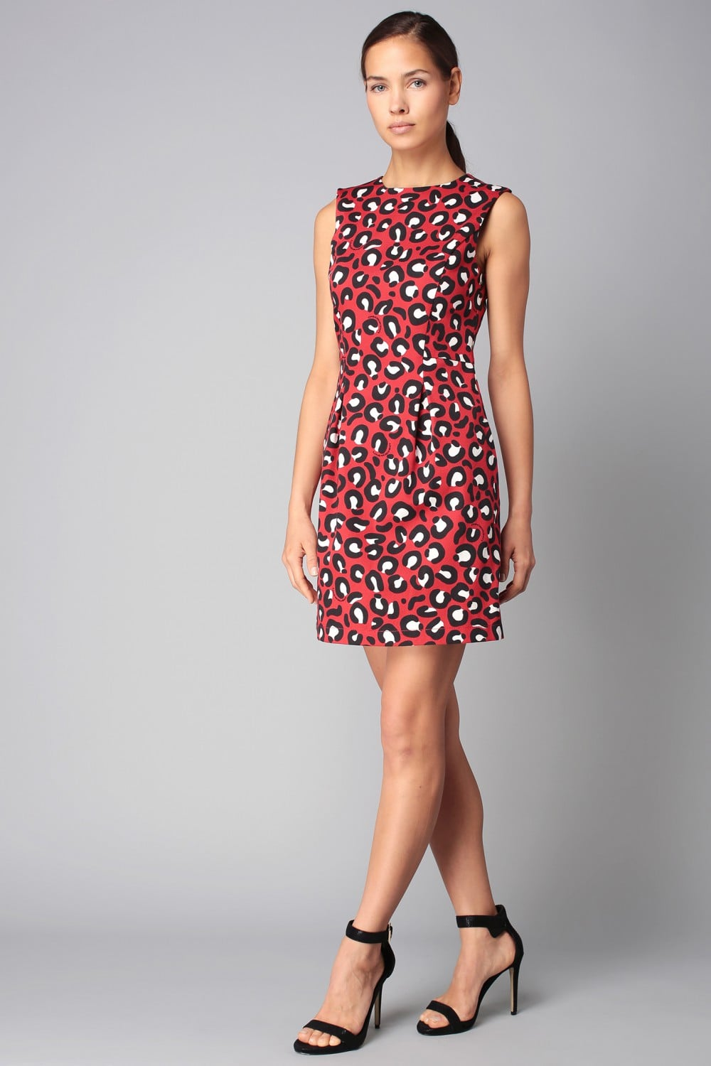 Robe Rouge Imprim Animal Lopard LOVE MOSCHINO Mode