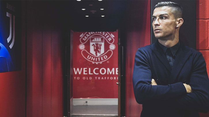 Ronaldo completes stunning move to Manchester United from Juventus