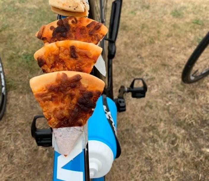 Top tube pizza (Image: Louise Short/ Facebook)
