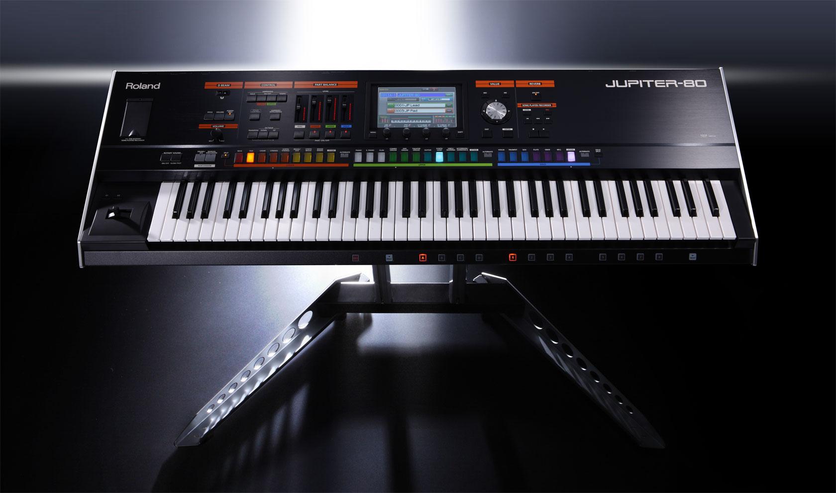 Roland Jupiter 80 with stand