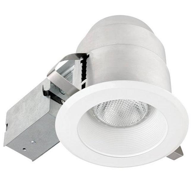 ridged baffle round trim recessed light 5 metal white