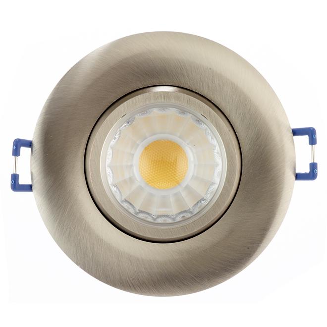 led recessed light trenz 7 5 w 3 brushed nickel