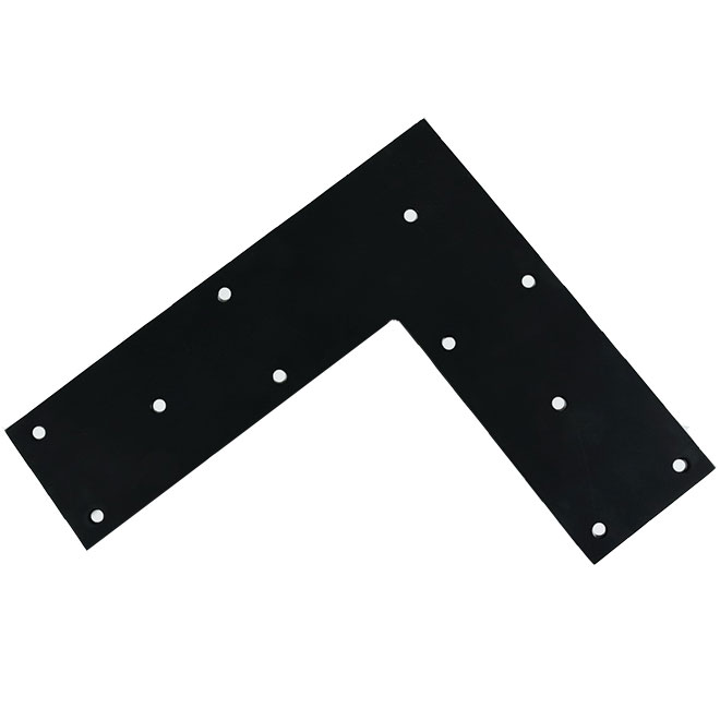 equerre plate en acier 14 x 12 x 4 noir