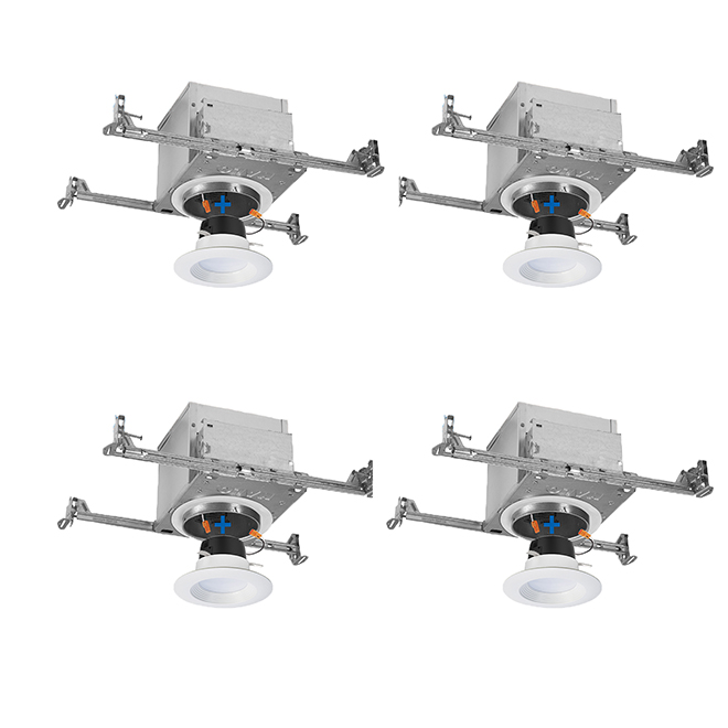 ic air tite recessed lighting led housings and trims 4 pk