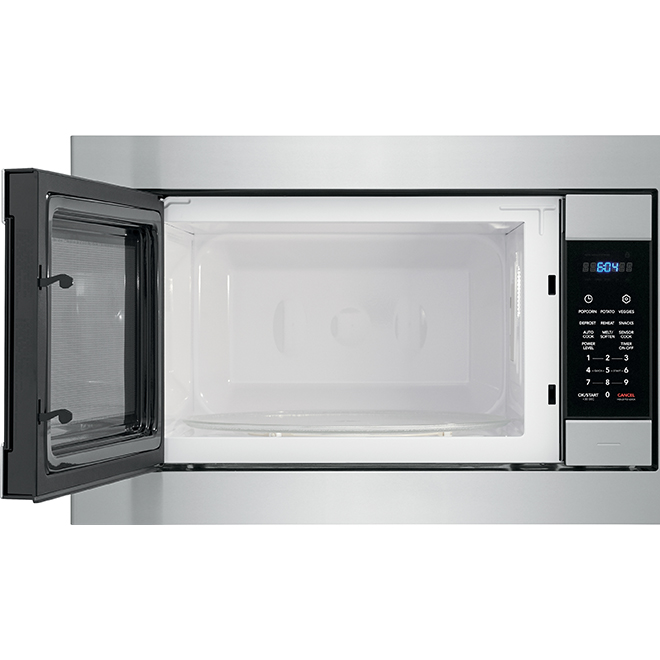 microwave with powersense 1100 w 2 2 cu ft stainless steel