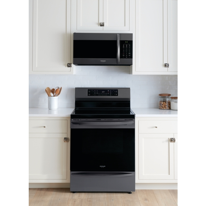 frigidaire gallery induction range convection oven 5 4 cu ft black stainless steel