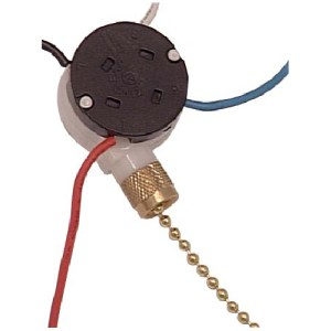 ATRON 3Speed Ceiling Fan Switch with Pull Chain  4Wire