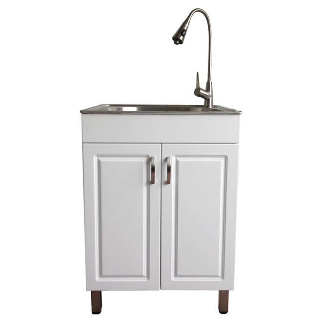 westinghouse laundry sink with cabinet white
