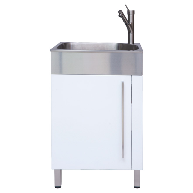 stainless steel laundry sink with cabinet 10 white