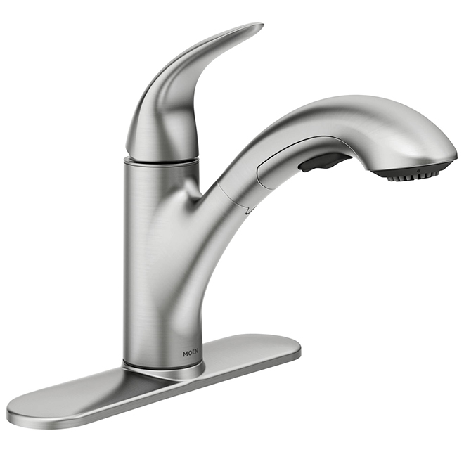medina 1 handle pull out kitchen faucet stainless steel