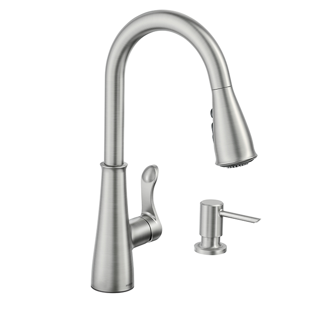 hadley pull down kitchen faucet stainless steel