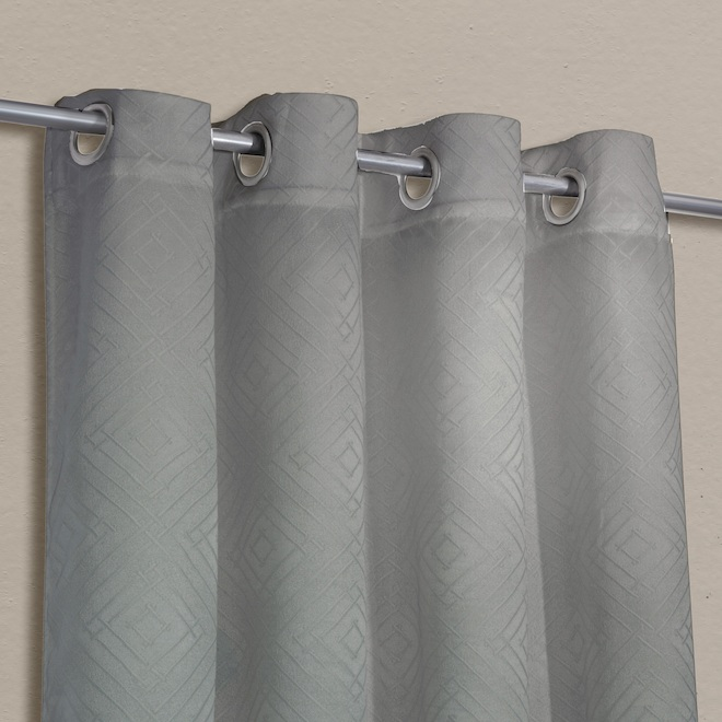 safdie co blackout curtain panels jacquard 54 in x 84 in two tone grey set of 2