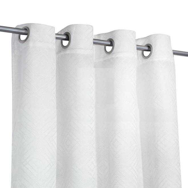 safdie co blackout curtain panels jacquard 54 in x 84 in white set of 2