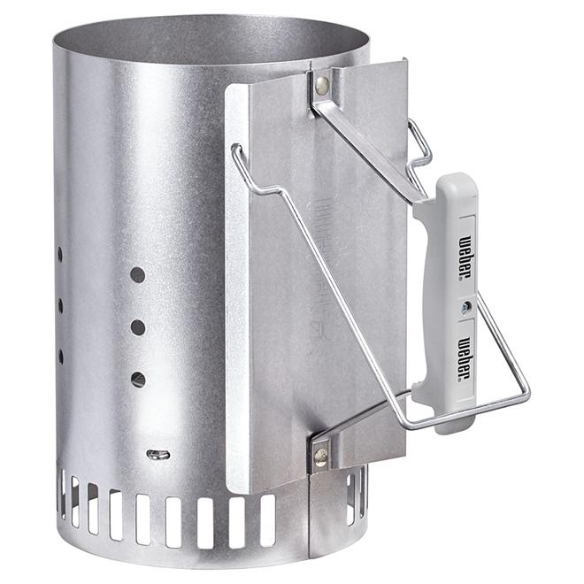 weber rapidfire chimney starter aluminum